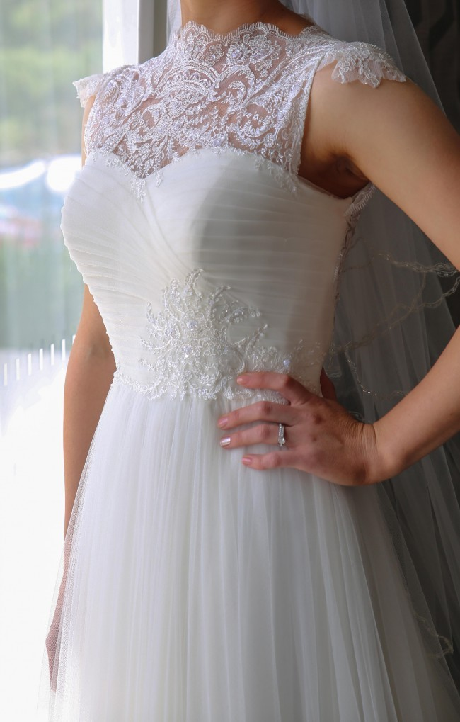 Alma Novia Wedding Dress Size 8 For Sale White Gown,Fitted Simple Wedding Dress Ideas