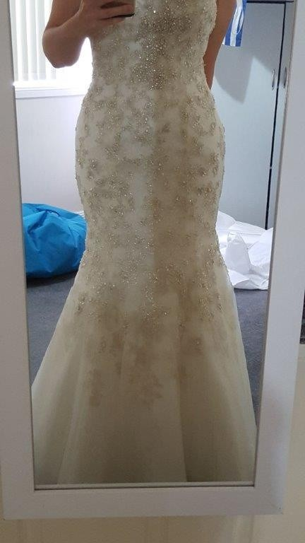 Mermaid Wedding Dress Size 6 For Sale