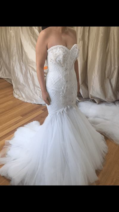Alin Le' Kal Wedding Dress For Sale | White Gown