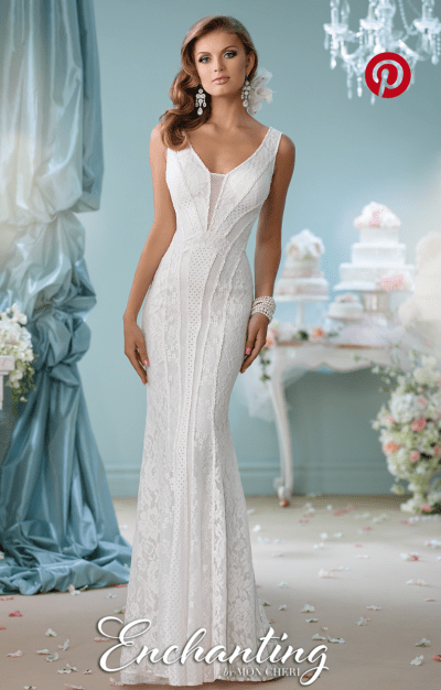 Mon Cheri Bridal Wedding Dress For Sale