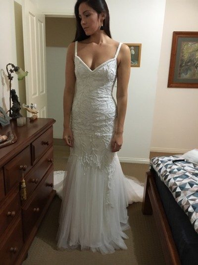 Custom Designed Wedding Dress For Sale | White Gown